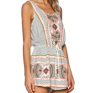 MinkPink Patterned Romper
